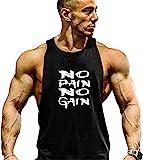 Cabeen Hommes NO Pain NO Gain Débardeur sans Manches Tank Top Sport Fitness Jogging