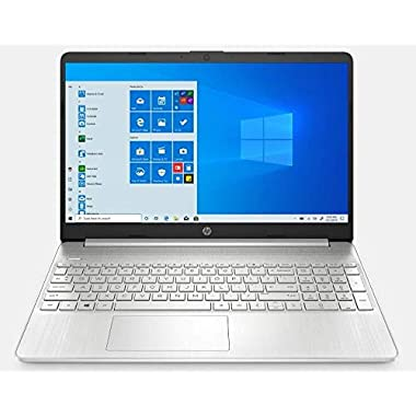 2021 HP 15.6″ FHD IPS Screen Laptop PC Intel 11th Gen 4-Core i5-1135G7 12GB DDR4 RAM 256GB NVMe SSD Intel Iris Xe Graphics Webcam HDMI Fingerprint USB C Windows 10 Pro Silver w/RE 32GB USB 3.0 Drive