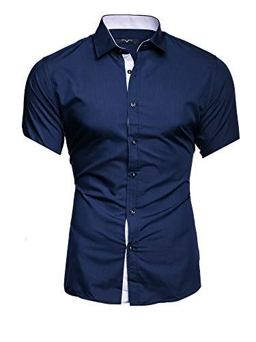 Kayhan Hombre Camisa Manga Corta, Florida Navy M