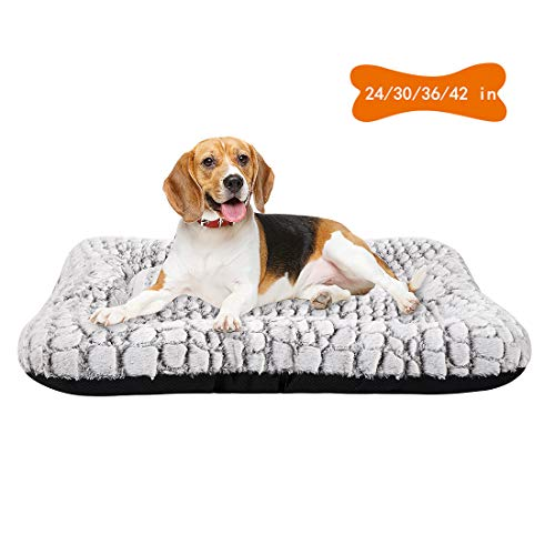 Coohom Deluxe Plush Dog Bed Pet Cushion Crate Mat,Washable Pet Bed for Medium Large Dogs and Dogs Crates (Medium s) Beds