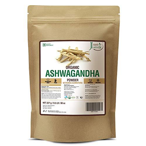 100% Organic Ashwagandha Powder- Withania Somnifera- USDA Certified Organic- 227g (0.5 LB) 8 oz - Ayurvedic Herbal Supplement That Promotes Vitality & Strength - Support for Stress-free Living