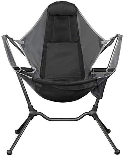 TXXM Silla de Campamento Plegable de Lefeindgdi, reclinable de Lujo de Columpios de Camping, relajación Sillón de Asiento de la Espalda del Confort de la relajación para al Aire Libre (Gris Oscuro)