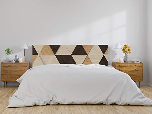 Oedim Cabecero Cama Triángulos Madera, cabecero Decorativo para Camas, decoración para Habitaciones