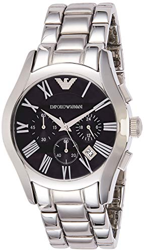 Emporio Armani Herren Chronograph Quarz Uhr mit Edelstahl Armband AR0673