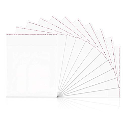 """Crystal Clear Self Sealing Cello Bags 1000pcs 3x3"""" Small Resealable Bags 1mil OPP Poly Bags for Jewelry Earrings Candies Bakery Candle Soap Cookie"""