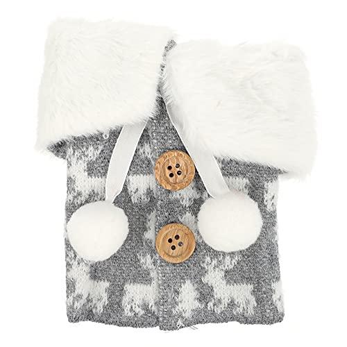 Veemoon Suéter de Navidad Cubierta de Botella de Vino Abrigo de Botón Diseño Bolsa de Botella de Vino Bolsas de Vestir para La Decoración de Fiesta de Vacaciones de Invierno