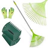 Best Leaf Rakes - Hortem Leaf Rake, Adjustable Garden Rakes Set Include Review