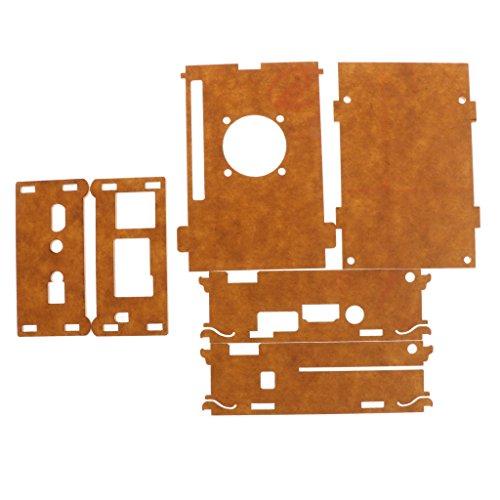 FLAMEER Caja De Plástico Acrílico Shell para Orange Pi Plus 2E Soporte Ventilador De Refrigeración