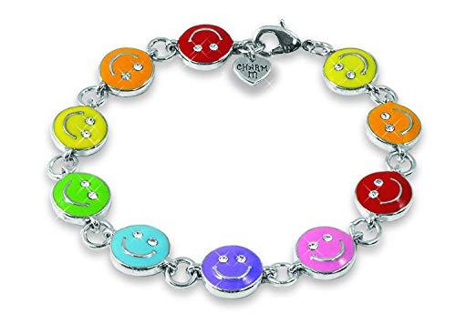 Charm Armband KICIB917 Smiley bunt für Mädchen