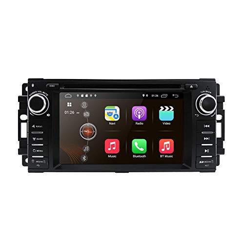 JIBO para Epica 2006-2011 Android 10 Navegacion GPS 6.2 Pulgadas Tocar Pantalla DVD Auto Jugador Cabeza Unidad, Auto Estéreo Radio Apoyo Bluetooth Teléfono Control RDS