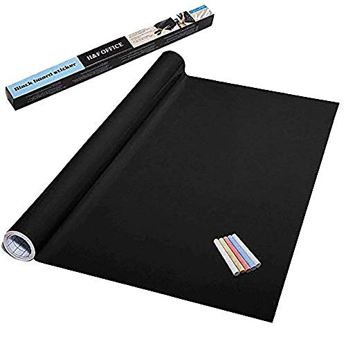 """78.7"""" x 17.7"""" Extra Large Chalkboard Sticker Blackboard Sticker with 5 Color Chalk, Wallpaper Contact Paper Chalkboard Contact Paper,Chalk Paper for School, Home, Office"""