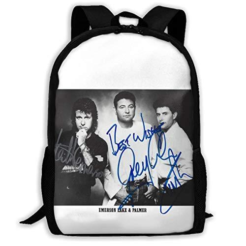 XCNGG Emerson Lake & Palmer Bolsa para portátil universitaria de alta capacidad Mochila escolar unisex duradera antirrobo