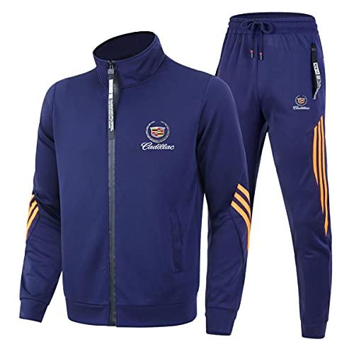 Cuello alto Tres Barras Ropa Deportiva Trajes Ca.dillac para Hombre/Mujer Casual Chándal Zip Cardigan Chaquetas y Pantalones