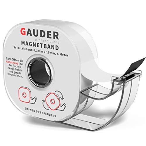 GAUDER Dispensador de Cinta Magnética | Banda Magnética Autoadhesiva | Tira de Imán Adhesiva