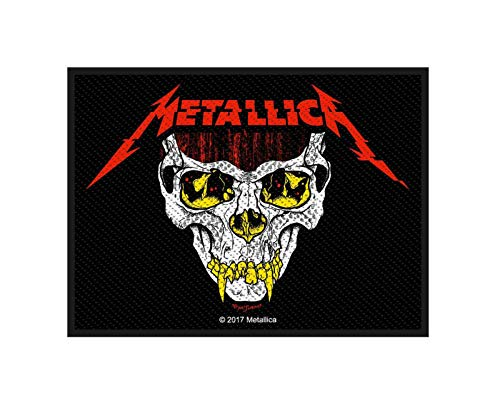 Metallica Patch Koln Skull Band Logo Official 10Cm X 7.5Cm Woven Sew On
