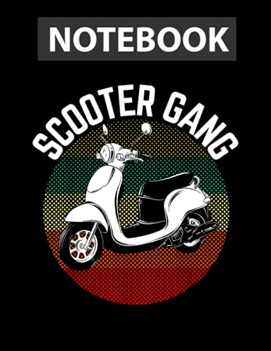 Scooter Gang Retro Vintage Moped Motorcycle Gear 2 Wheeler Notebook, journal pages, book, gift, write