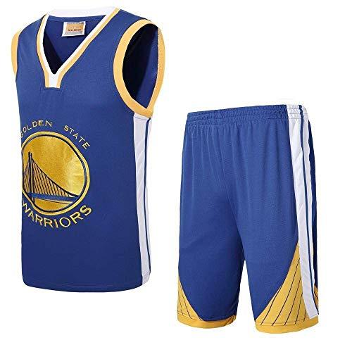 CZLSD Camiseta Conjunto de la NBA for Hombres Warriors Basketball Suit DIY sin Mangas Bordado Vintage Jersey Sudadera Set Black-XXXXXL Jersey (Color : Blue, Size : XXXL)