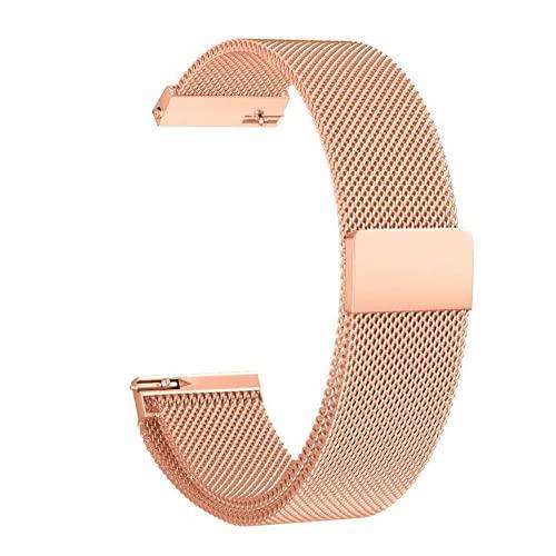 G-RF Bandas De Repuesto para Samsung Galaxy Watch Active 42mm, Acero Inoxidable De Metal Milanés Correa (Rose Oro)
