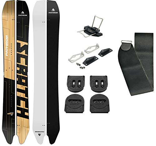 Pathron Snowboard Splitboard Scratch Split inkl. Clips und Hooks + Voile Set + Felle (161cm)