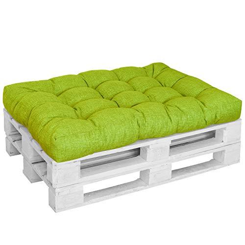 DILUMA | Coussin d'assise 120x80 cm Vert Pomme | Coussin Comfort pour Sofa Palette Europe résistant aux éclaboussures