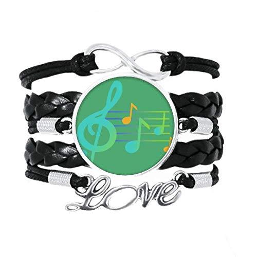 OFFbb-USA - Pulsera de fluorescencia musical con texto en inglés 'Love Accestion'