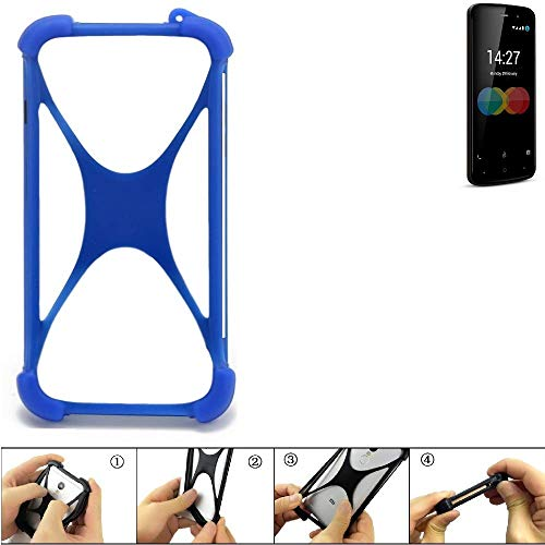 K-S-Trade® Handyhülle Für Allview P6 EMagic Silikon Schutz Hülle Cover Case Bumper Silikoncase TPU Softcase Schutzhülle Smartphone Stoßschutz, Blau (1x),
