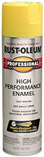 Rust-Oleum 7543838 Professional High Performance Enamel Spray Paint, 15 oz, Safety Yellow