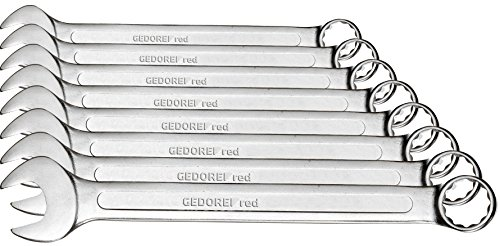 GEDORE red ringsteeksleutelset 8-delig 9-19 mm verchroomd