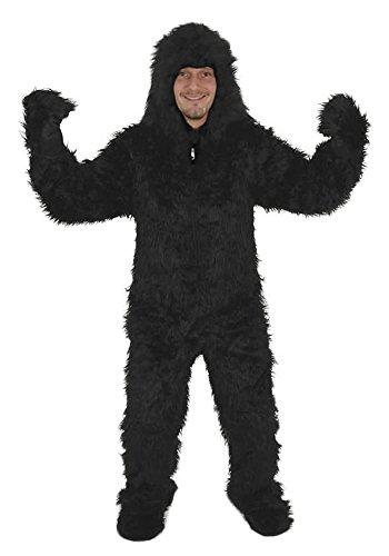 Gorilla offen Kostüm Einheitsgrösse XXL Fasching Karneval Halloween Affe