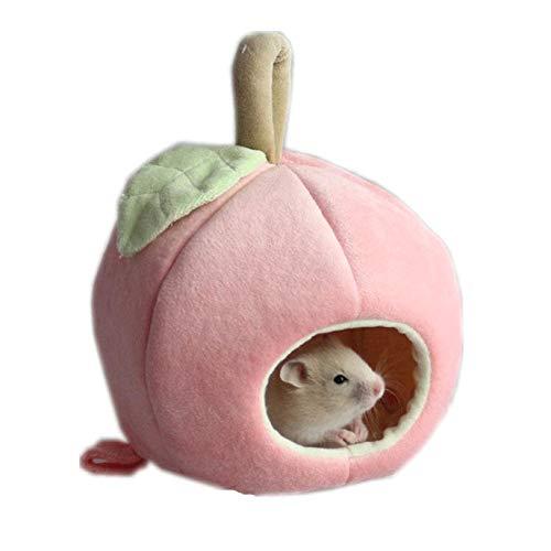 PRINDIY Casa hámster Forma Manzana Ropa Rosa Mascotas