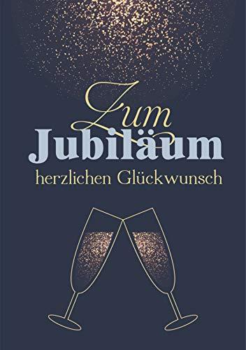 Jubiläumskarte Schrift gold Glückwunschkarte zum Jubiläum herzlichen Glückwunsch (Jubiläumsfeier)