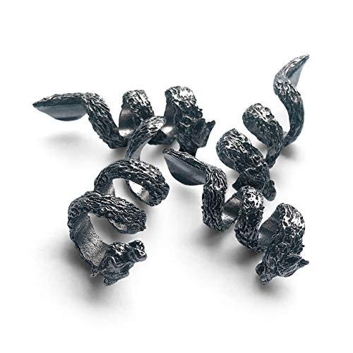 Wolf Beard Bead Coils (4) - Viking Rings for Hair, Dreads & Beards