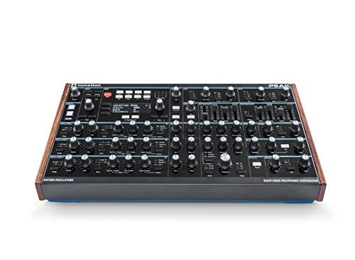 Novation Peak Sintetizador de escritorio polifónico de ocho voces.