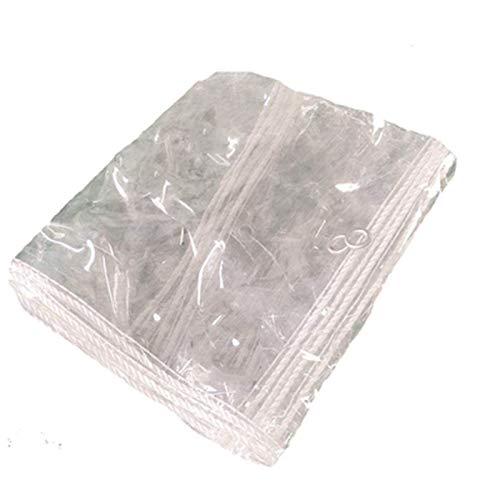 ALGWXQ Transparentes Lonas De Toldos Durable Fácil De Usar Balcón Terraza Jardín Protección contra El Polvo Carpa A Prueba De Lluvia Y Viento, 16 Especificaciones (Color : Clear, Size : 3x3m)