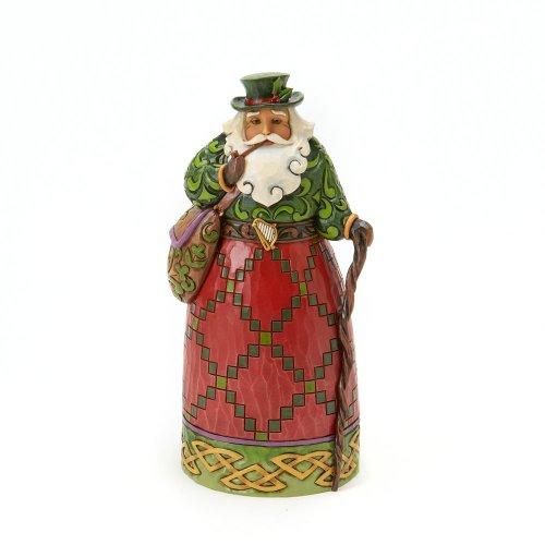 "Jim Shore Heartwood Creek Irish Santa Stone Resin Figurine, 7"""