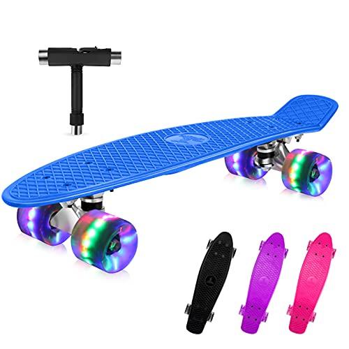 BELEEV Skateboard 55cm/22inch para Principiantes...