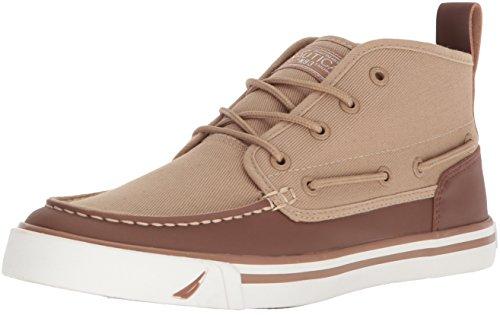 Nautica Men's Del Mar Mid Sneaker, Tan/Camel, 8 Medium US