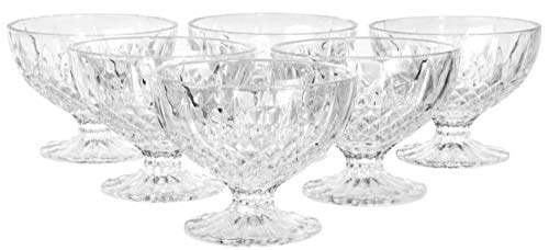 Classic Footed Dessert Cups, Set of 6, 9 OZ