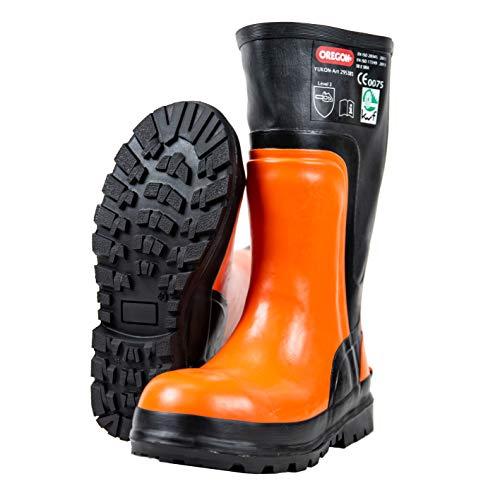 Oregon Yukon Sicherheitsstiefel aus Gummi, Schutzstiefel für Kettensägenarbeiten, 295385/41
