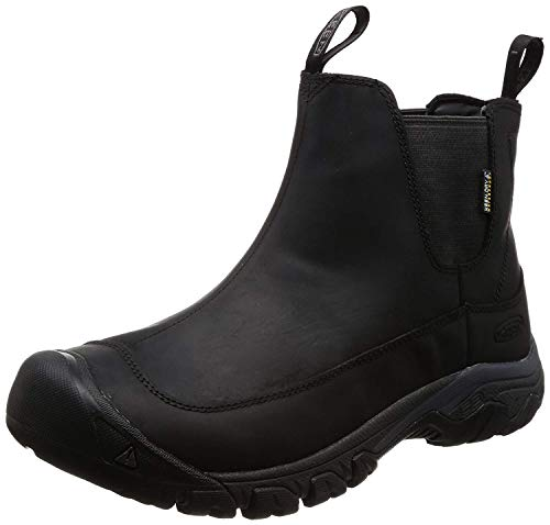 KEEN Men's Anchorage 3 Pull On Waterproof Boot, Black/Raven, 11 M US