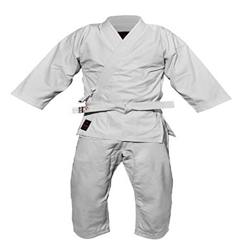 FUJI- Advanced Brushed Karate Uniform, Cotton Blend Karate Gi, White
