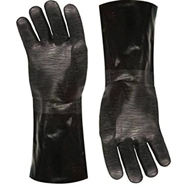 Insulated waterproof / oil & heat resistant BBQ, Smoker, Grill, and Cooking Gloves. Great for barbecue & grilling -excellent gift -1 pair (13 Inch)