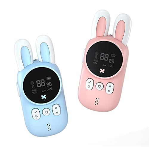 QERMULA 1 par Mini Walkie Talkie 3KM / 2Miles Walkie Talkie inalámbrico Interfono Inteligente Inteligente con función de teléfono Clara Walkie Talkies