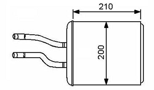 NRF échangeur de chaleur pour intérieur chauffage, 53244
