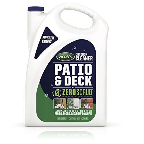 Scotts Outdoor Cleaner Patio & Deck with Zeroscrub Technology Concentrate, 0.5 Gallon