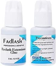 Eyelash Extension Glue Sensitive Eyes 5ml Professional Lash Extension Glue 3-4 Sec Drying Time| 5 Weeks Retention Permanent Eyelash Glue by FADLASH