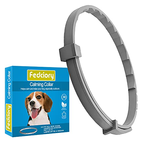 Fedciory Calming Collar for Dogs Anxiety Relief Pheromone Dog Calm Collars Small Medium Large Breeds Pets Reduce Stress Adjustable Size Up to 24.5 Inches