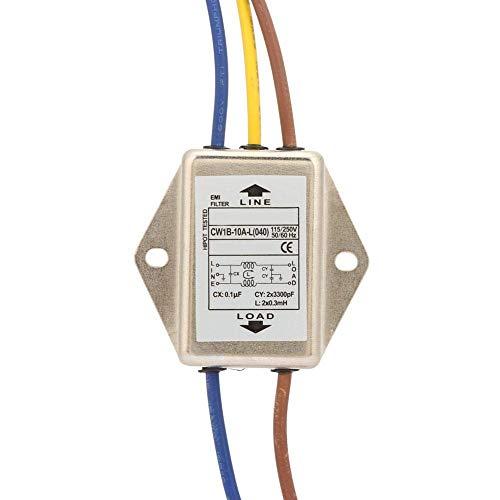 125 250V AC 10A alimentazione filtro EMI, per Sopprimere l interferenza di impulso continua e intermittente