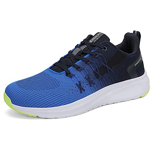 Dannto Chaussures de Sport Homme Basket Running Femme Chaussures de Course Fitness Tennis Gym Respirantes Sneakers Casual Multicolore Légères Bleu 40