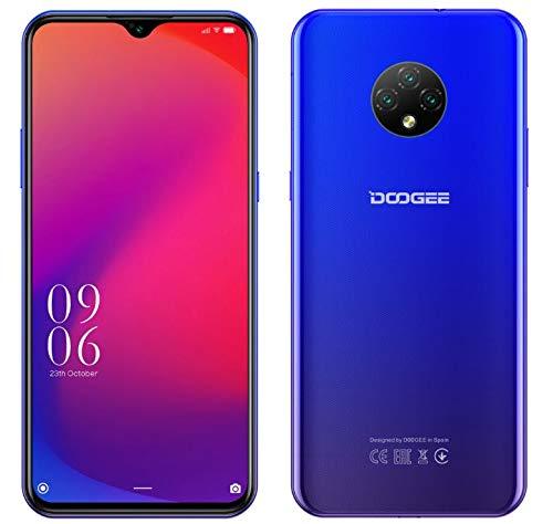 4G Smartphone Libre Android 10 (2020), Teléfono Móvil DOOGEE X95 Dual SIM, 6.52'' Waterdrop Pantalla, Batería 4350mAh Carga Rápida, 2GB+16GB, 13MP+2MP+2MP+5MP, GPS WiFi, Reconocimiento Facial Azul